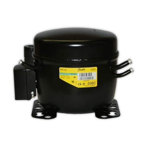 DOJA Industrial   Compresor SECOP FR11G R-134a 3/8 con V   DANFOSS BAJA/MEDIA/ALTA 11,15 cc