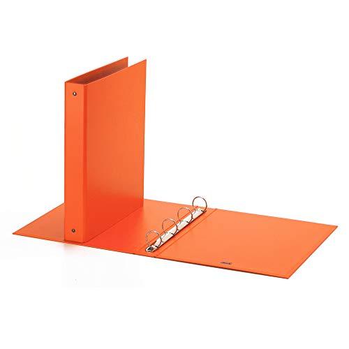 Favorit Neon Raccoglitore Cartonato, 22 x 30 cm, 4 Anelli Tondi, Diametro 30 mm, Arancio Fluo
