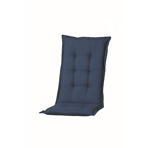 Nordje Hochlehner-Auflagen Comfort Gartenmöbel-Auflage 123x50x8cm (Blau)
