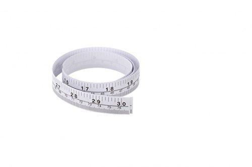 D & P Abrams sz1756desechables papel cinta métrica, 30'L, color blanco (Pack de 500)
