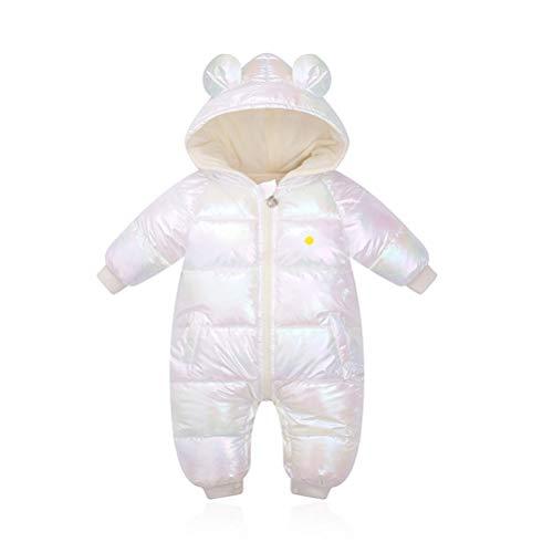 Odziezet Tuta da Neve Con Cappuccio Piumino da Neonato Tutone Calda Impermeabile da Bambina Zip up Snowsuit Per Inverno 6-12 Mesi