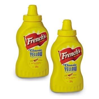 CMC French S Classic Yellow Mostarda, 2 confezioni di Senape americana (2 x 226 Grammi)