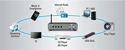Yamaha WXA-50 – Alexa compatible wireless streaming amplifier with Wi-Fi and Bluetooth – Black