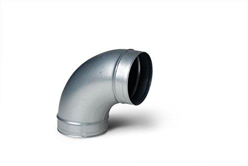 90deg Pressed 200mm Galvanised Metal Ducting Bend
