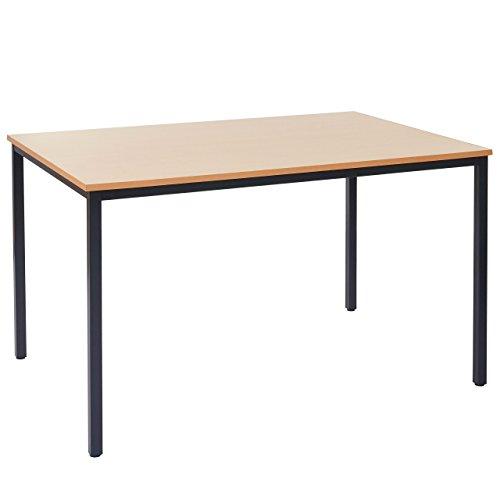 Mendler Schreibtisch Braila, Konferenztisch Bürotisch Seminartisch, 120x80cm MDF - Buche-Optik