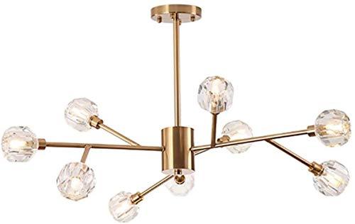 Moléculas Colgante Luz de araña, Luz de techo Media montaje Retro Sputnik Cristal Lámpara de Cristal para Comedor Isla Entrada Lámpara Colgante Lámpara de Oro B 15 Luces