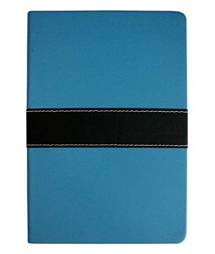 Emartbuy Premium PU Pelle Rilegato Diario Taccuino Giornale Blocco Notes Notebook Foderato Cartonato Scrittura A5 96 Fogli (192 Pagine) - Blu