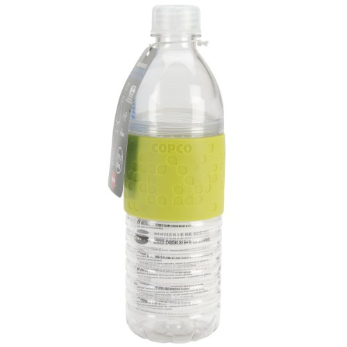 Copco 2510-2293 Hydra Reusable Tritan Water Bottle with Spill Resistant Lid and Non-Slip Sleeve, 16.9-Ounce, Lime Green