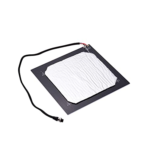 Heating Bed, 24V 3D Printer Heated Bed Hotbed Heating Platform Aluminum Plate 310 * 310mm with Hotbed Wire Insulation Connton Compatible with CR-10/CR-10S TEVO Tornado 3D Printer (Size : 12V)