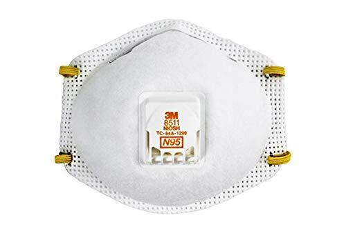 3M 8511 Paint Sanding Valved Cool-Flow Respirator 10-Pack