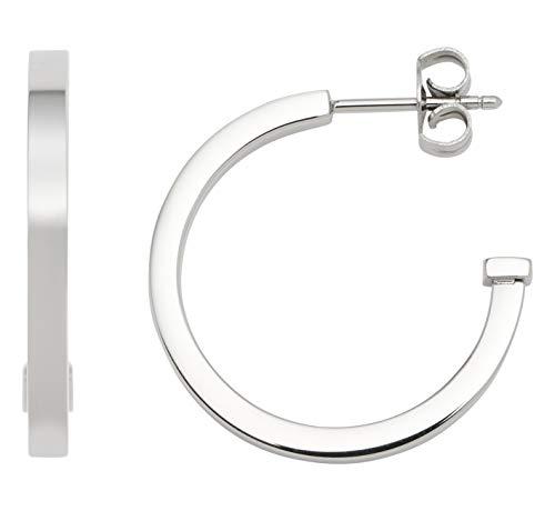 Jewels by Leonardo Damen-Kreole Beauty's M, Edelstahl, Größe (B/H/T):2/15/18mm, 016755