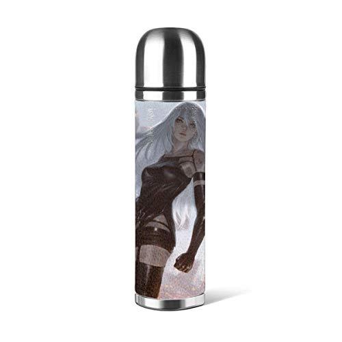 donghu Neil Mechanical Era - Botella de agua de acero inoxidable con aislamiento al vacío, reutilizable de doble pared, bebidas B