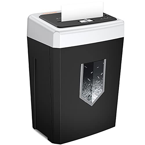 Bonsaii 14-Sheet Cross-Cut Office Paper Shredder, 30-Minute Continuous Running Time, Credit Card/Staples Shredders for Home Use Heavy Duty, Quiet Shredding Machine with Jam Proof System (C169-B)