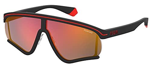 Polaroid PLD MSGM 2/g Sunglasses, 8LZ/OZ Black Orange, 68 Unisex-Adult