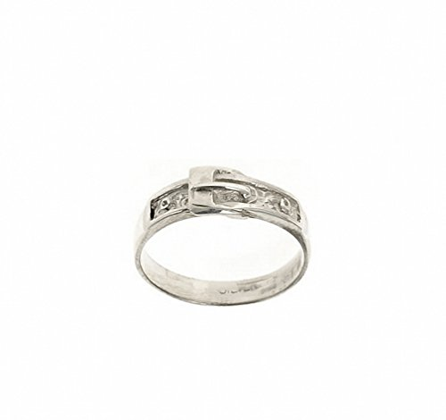 Sterling Silver Buckle Ring (Size F - V) Made to order in the Birmingham Jewellery Quarter (N)