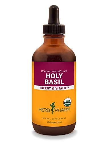 Herb Pharm Certified Organic Holy Basil (Tulsi) Liquid Extract for Energy and Vitality - 4 Ounce