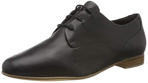 Clarks Pure Mist, Derbys Femme, Noir (Black Leather Black Leather), 41.5 EU