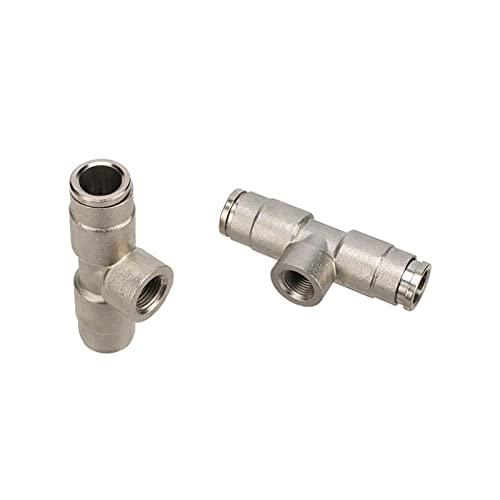 Conexión de agua de pulverización 3 piezas de hilo hembra de 1/8'a 3/8' Conector de 9/8'TUBO 9.52mm TUBO ANILLO DE CLOQUE DE LOCK AJUSTE 1/8' Adaptador de boquilla de atomización roscada