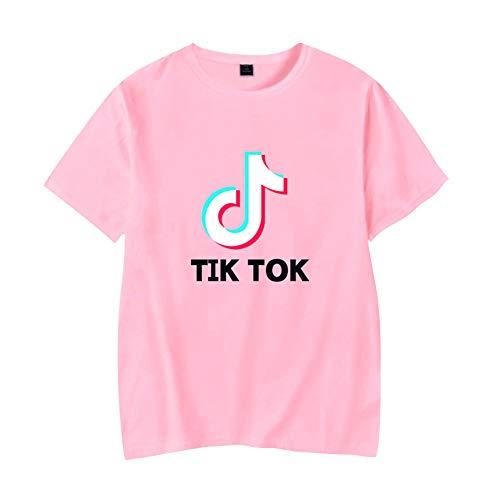 TIK Tok Camiseta Manga Corta Basica Mujer Hombre Sudadera Sin Capucha Camisa Swag Sweatshirt Sueter Blusa Cuello Redondo Jersey Verano Pullover Hip Hop Jumper Tunica Top Solid C00605TX015XXXL