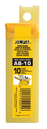 Olfa 210101 Cuchilla cutter troceable 80x9mm, Negro, Set de 10 Piezas