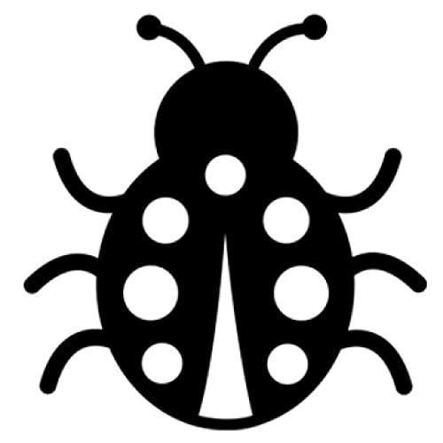 Cbhsjinsuxha 4 Piezas Pegatinas de Coche 13.7 cm * 14.2 cm Mariquita patrón de decoración de Dibujos Animados Vinilo Pegatina de Coche Ventana de Parachoques Motocicleta Pegatinas