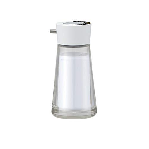 Dispensador de Loción Emulsión de Prensa Botella de la Mano Botella de desinfectante Sub-Botella, Vidrio dispensador de jabón, líquido Recargable de Primera Calidad for la Cocina (Color : White)