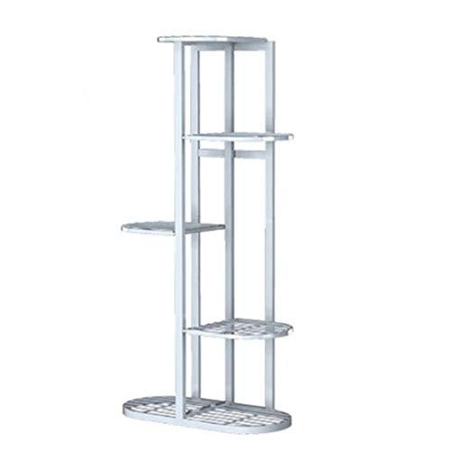 Dittzz Escalera de flores de metal, soporte para flores con 5 estantes,...