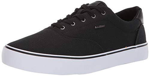 Lugz Men's Flip Sneaker, Black/White, 10 D US