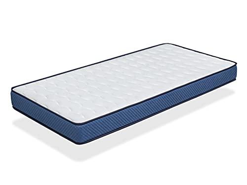 Colchon 80x160 Cama Infantil - Altura 14 CM Promo Confort - Ergonomico, Transpirable, Memory. Ideal para Cama Nido
