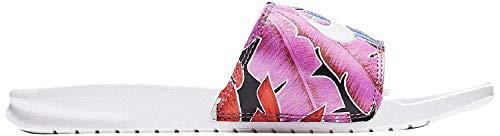 Nike Damen Benassi JDI Print Dusch- & Badeschuhe, Mehrfarbig (White/Habanero/Ember Glow/Game Royal 113), 36.5 EU