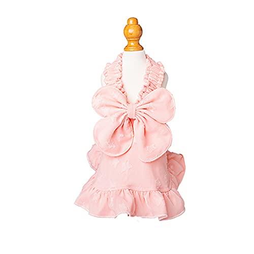 YFAX, Vestido de Perro, Princesa de Perro Vestido de Tutu, para Ropa de Mascotas Fiesta de cumpleaños, Perro Ropa de Pascua, Chaleco Camisas Sundress-Pink||XXL
