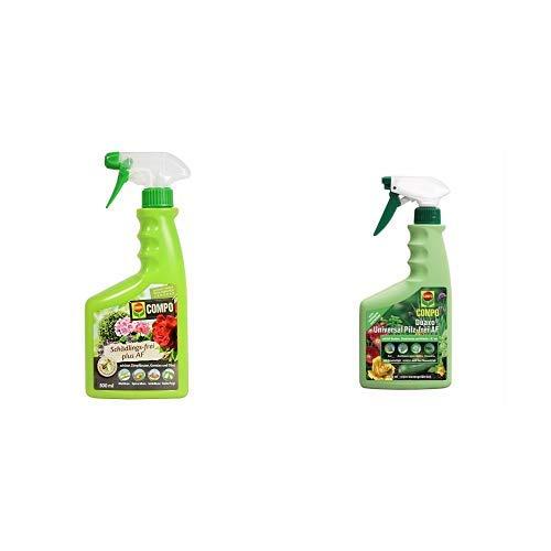 COMPO Schädlings-frei plus AF, Bekämpfung von Schädlingen an Zierpflanzen, Gemüse und Obst, 500 ml & Duaxo Universal Pilz-frei AF, Bekämpfung von Pilzkrankheiten an Zierpflanzen, 750 ml