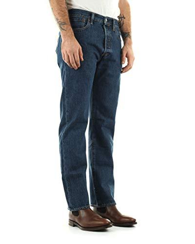 Levi's Uomo 501 Original Fit Denim Jeans, Blu, 34W x 36L