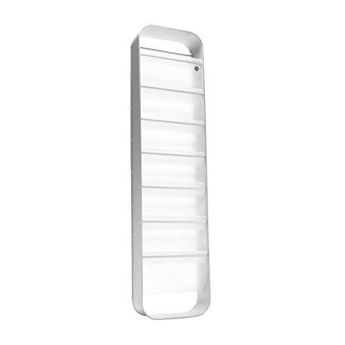 reisenthel redondo Zeitschriftenständer aluminium semi transparent 27,5 x 108 x 10 cm