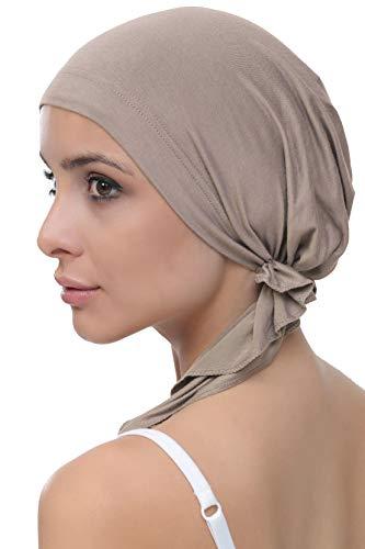Deresina Vorgebunden Tücher der Baumwolle für Haarausfall, Krebs (Mink)