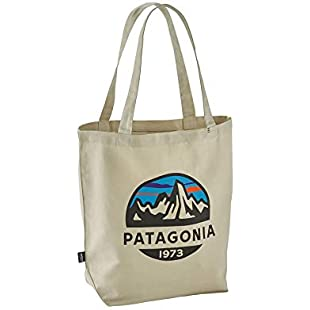 Patagonia Unisex Adult Market Tote Bag, 36X24X45Centimeters, fitz roy scope bleached stone, One Size