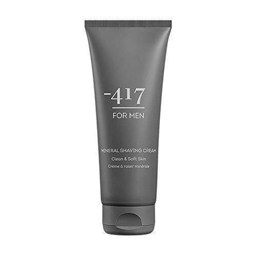 -417 Crème à raser minérale Dead Sea Cosmetics, 100ML - unifie la peau et accorde une expérience unique de rasage - Une peau plus souple et plus jeune For Men Collection