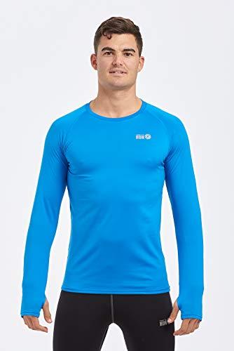 time to run Leichtgewichtiges Thermo-Lauf-T-Shirt für Herren mit Rundhalsausschnitt XL Calypso Blau