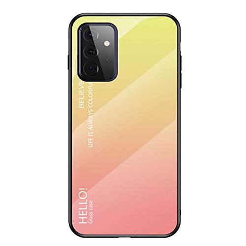 Custodia protettiva in silicone per Samsung Galaxy A72, durezza 9H, protezione posteriore in vetro HD + cornice morbida antiurto per Samsung Galaxy A7