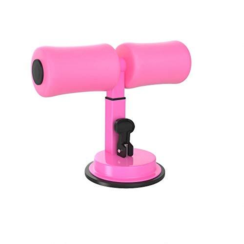 MZXI Saugnapf-Sit-Up-Hilfe 3-Gang-Verstellbare hochelastische Schaumstofftrainings-Liegestütze Yoga-Action-Home-Pink