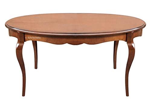 Arteferretto Table à Manger Ovale modelée Extensible