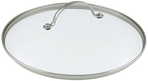 GreenPan Universal-Deckel für Brat-Pfanne-n Gross Glasdeckel auch für Koch-Topf geeeignet Edelstahl-Griff, Glas, Transparent, 28 cm