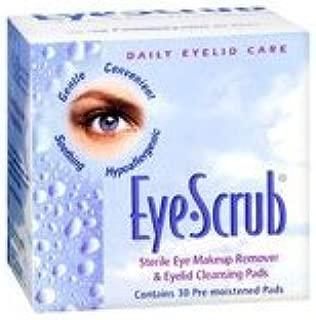 Eye-Scrub Eye Scrub Sterile Eye Makeup Remover And Eyelid Cleansing Pads, 30 each (Pack of 2)