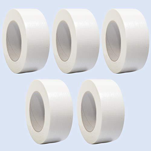 5 Rollen Premium Gewebeband in weiß | Panzertape | Panzerband | Klebeband | Gaffa Tape | 50mm x 50m