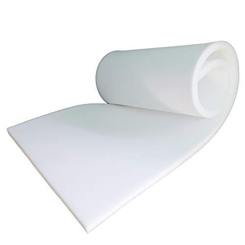 Casa de hilos Premium de alta densidad blanca tapicería espuma Shee tFor cojines para ventana cojines sofá comedor interior silla silla silla silla silla exterior acolchado 152,4 x 50,8 x 2,5 cm