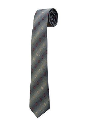 Oh La Belle Cravate Cravate fine rayure slim gris motif DESIGN mariage dandy RTS