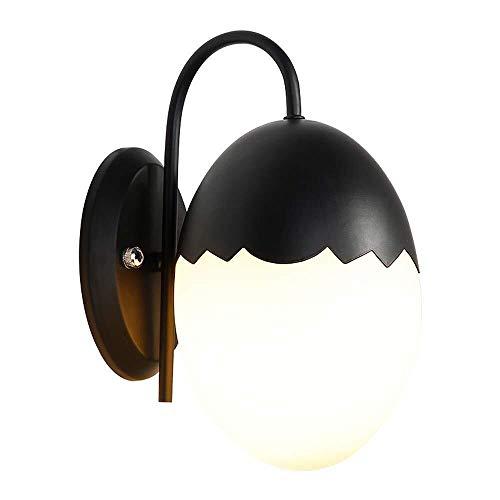MJZHJD Lámpara de Pared LED, lámpara de Pared de la Personalidad nórdica Simple Escalera de la Sala Dormitorio del Pasillo del Pasillo de luz (Color: Negro) Luz de Pared