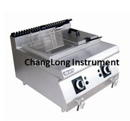 changlong Instrument tgf-8Gas Desktop Fritteuse Gas Friteuse Commercial Pfanne Pommes Frites Maschine Fried Chicken Wings Single Zylinder Fryer (2Tank 2Korb)