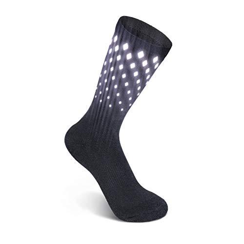 SpeedReflec lumiSox®: Reflektierende Sportsocken Herren u. Damen | High-visible | für Läufer und Radfahrer | (39-42)