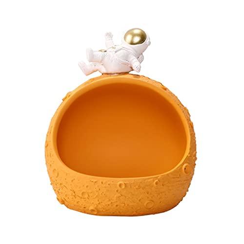 Cuenco central de mesa, caja de almacenamiento para relojes, tazón, mesa de café, plato de caramelo, almacenamiento de frutas secas, muebles para el hogar, regalos de vacaciones (color naranja)